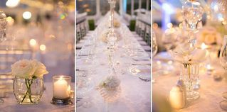 banquet style wedding decor and flowers 006
