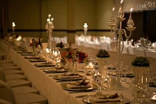 banquet style wedding decor and flowers 018