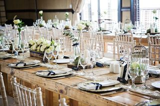 banquet style wedding decor and flowers 022