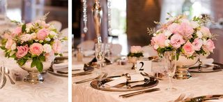 banquet style wedding decor and flowers 023