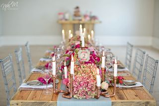 banquet style wedding decor and flowers 027