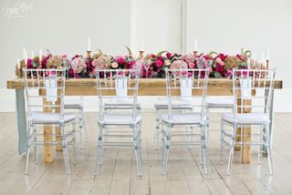banquet style wedding decor and flowers 028