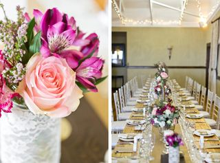 banquet style wedding decor and flowers 029