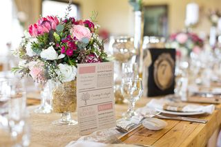 banquet style wedding decor and flowers 030