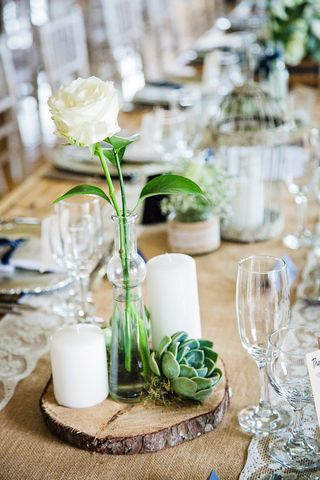 banquet style wedding decor and flowers 032