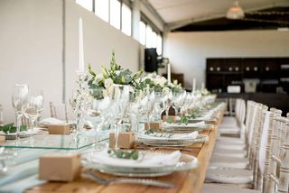 banquet style wedding decor and flowers 034
