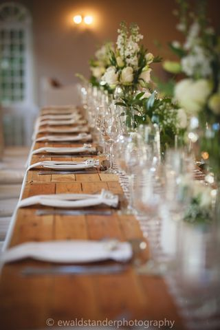 banquet style wedding decor and flowers 036