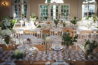 banquet style wedding decor and flowers 037