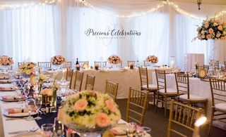 banquet style wedding decor and flowers 003