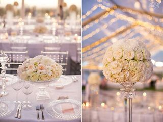banquet style wedding decor and flowers 004