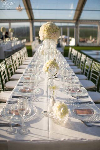 banquet style wedding decor and flowers 007
