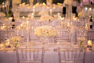 banquet style wedding decor and flowers 009
