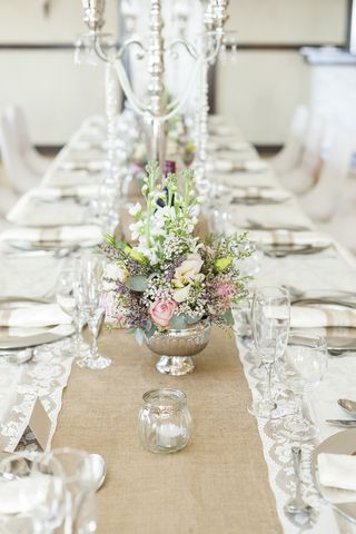 banquet style wedding decor and flowers 013