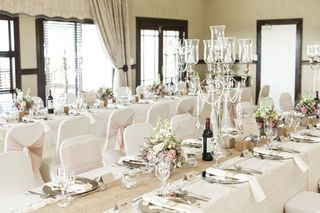 banquet style wedding decor and flowers 014