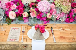 banquet style wedding decor and flowers 025