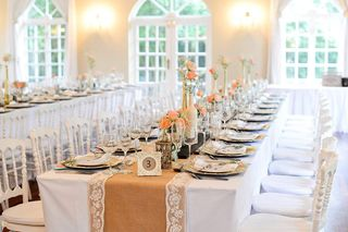 banquet style wedding decor and flowers 033
